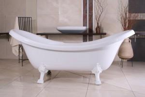 Casa Padrino Luxus Badewanne freistehend weiß